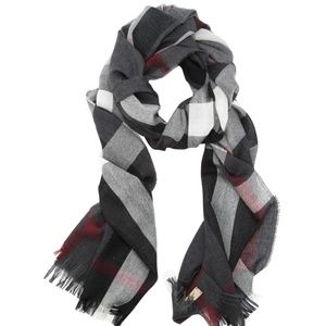 Burberry Tonal Check Cashmere Wool Scarf